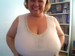 3 min - Chubby mature blondie haired housewife likes bragging of her big titties
