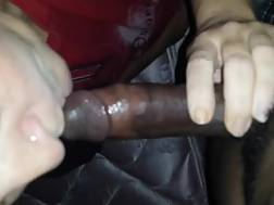 6 min - Perverted blondie haired mature slutty woman blowjob my strong black cock