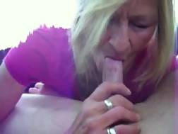 4 min - Slutty mature blonde housewife works on my buddys strong prick