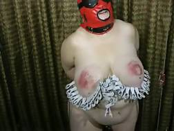 5 min - Curvy bound up and masked bbw mature nympho gets jugs pinned