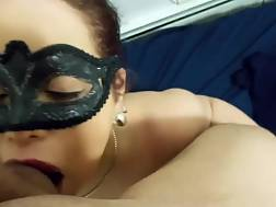 3 min - My masked 50 yo wife provides my strong hard cock with a sucks