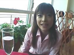 5 min - Kinky amateur Japanese nympho flashes her big hooters with dark nips