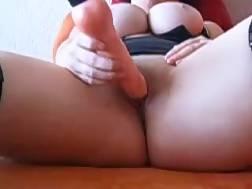 4 min - My bosomy wifey tapes the way she pets her hungry meaty vagina