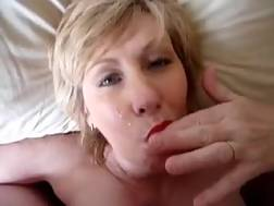 5 min - My short haired mature blonde wife keeps on sucking my penis