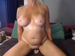 4 min - Boobed and zesty cougar teases with her curves on live chat