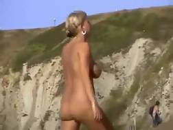 2 min - Chubby blondie mom gets caught on my hidden cam on a nude beach