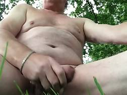 1 min - I get more intense orgasms when I wank off outdoors