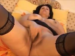 2 min - My thick mature wife entertains herself by fingerfucking her twat
