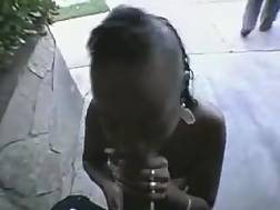 3 min - My dick-hungry black girlfriend works on my black wood behind the corner