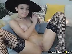 12 min - Witch Teen Goddess Playing vagina