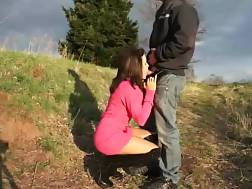 4 min - Dicked outdoors and creampie