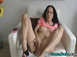 6 min - Skinny bitch with small titties blowjob her big fucktoy and plays with her twat