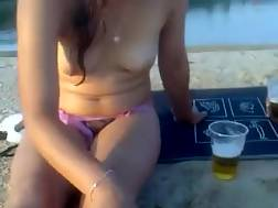 9 min - Nude and horny Russian nympho wants to have sex on the beach