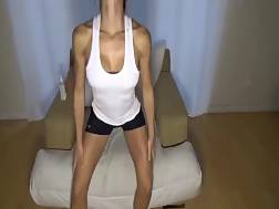 4 min - Sporty livecam charmer is banging herself with her porn toy