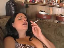 7 min - My cute curvy wifey is smoking and wanking in front of me