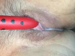 3 min - Solo clip with me masturbating my hairy pierced cunt