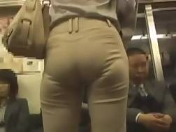 3 min - Amateur lady with cool booty gets caught on my spy cam on a train