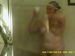 3 min - I simply love watching my voluptuous wifey shower in front of me