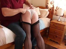 3 min - Superb home made movie with me getting spanked by my husband