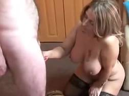 8 min - Big-breasted amateur mamma drives me crazy with a terrific BJ