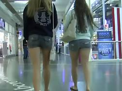2 min - These classy teens in short shorts have no idea I am following them