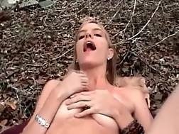 15 min - Wifey slut gets creampie in the forest