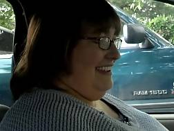 4 min - Mature fat neighbor woman wants to play with my penis in her car