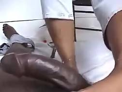 21 min - Interracial POV footjob scene with me and my co-worker
