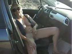 4 min - My depraved wifey jerks her coochie in a car on the way home