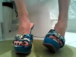 6 min - My hot bride demonstrates her amazing pedicured feet