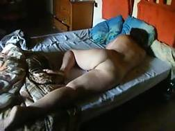 2 min - Home made movie with my wifey flashing her hairy vagina