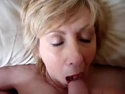 5 min - Chubby white grandma gives amazing head and deserves sperm