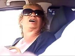 2 min - Bosomy blondie grandmother gives me a good hj in a car
