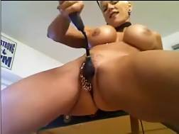 3 min - Busty and dominant live chat mother blond masturbates with a huge plastic porn tool