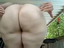 8 min - Here is my white fat appetizing booty snack time with my babe