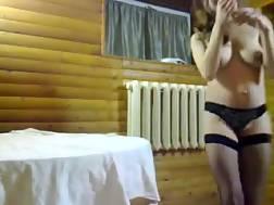 31 min - Kinky hooker BJ my boner in a sauna & gets banged hard