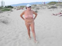 2 min - My curvy mature wifey demonstrates her naked body on a beach