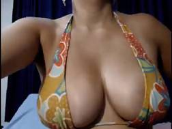 9 min - Appetizing pair of swarthy big jugs of a sexual mamma lady