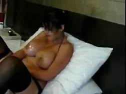 3 min - Busty latina bitch oils up her titties & spreads her legs
