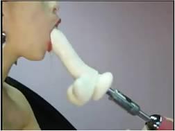 12 min - Web cam solo with an amateur slut gaging a fucktoy