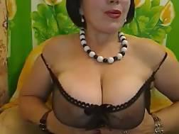 6 min - Boobed dark haired mamma fingers her anus & kneads her big titties