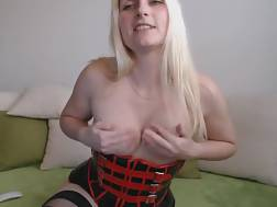 4 min - Excellent web cam solo with an amateur blond toying her backdoor