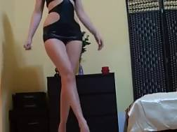 9 min - Amateur light haired in sexy outfit shows her nice ass for the live chat