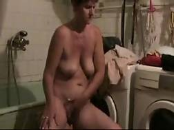 3 min - My old wife with saggy titties just enjoys wanking in front of me