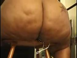 5 min - Here is how fishnet panties for my fat wife look like