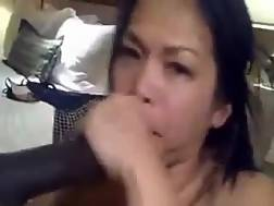 4 min - Oriental sweet girlie with huge throat was really thirsty for jizz