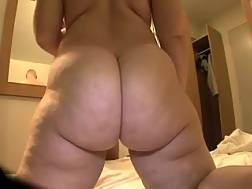 12 min - Huge-assed dark haired mother rides my penis after sucking it
