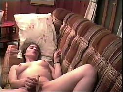 3 min - MICHELLE FROM MAINE MASTERBATING & blowing MY cock