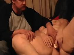 14 min - My fat wifey toys her pussy & allows me to help her