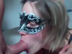 2 min - Awesome deep throat suck from my awesome masked gf